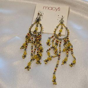 Beaded statement earrings